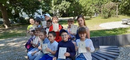 Ostatnie zajęcia w drugiej grupie Klubu Literackiego Strofka 2020/2021 Młodzieżowy Dom Kultury w Puławach